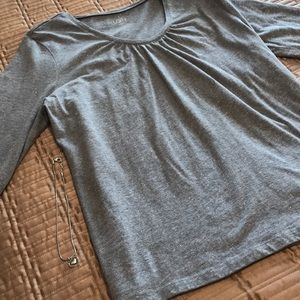 Loft top, gray with sparkles, size XL